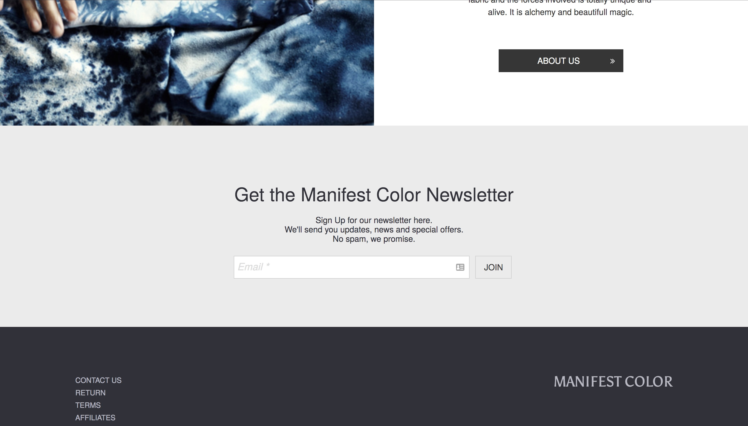 Manifest Color newsletter